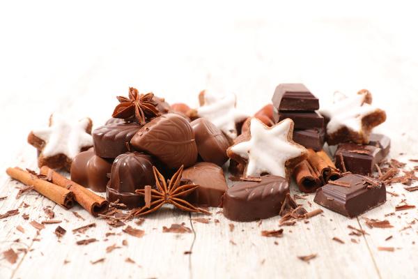 Vente de chocolats de Noël